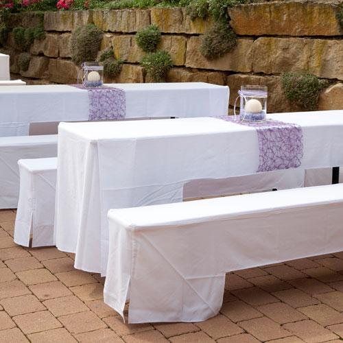 Hussenset f r festzeltgarnitur edel locker emotionevents catering more - Hochzeitsfeier im garten ...